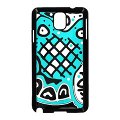 Cyan high art abstraction Samsung Galaxy Note 3 Neo Hardshell Case (Black)