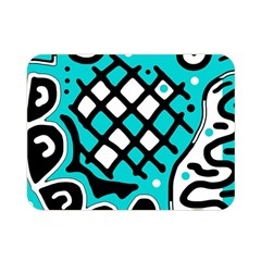Cyan high art abstraction Double Sided Flano Blanket (Mini)