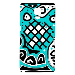 Cyan high art abstraction Galaxy Note 4 Back Case