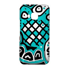 Cyan high art abstraction HTC One M9 Hardshell Case