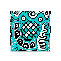 Cyan high art abstraction Satin Bandana Scarf