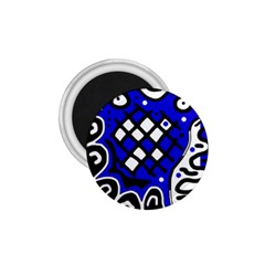 Blue high art abstraction 1.75  Magnets