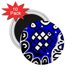Blue high art abstraction 2.25  Magnets (10 pack)