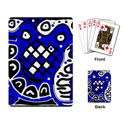 Blue high art abstraction Playing Card
