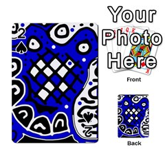 Blue high art abstraction Playing Cards 54 Designs