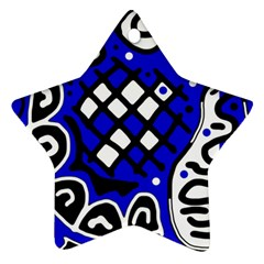 Blue high art abstraction Star Ornament (Two Sides)
