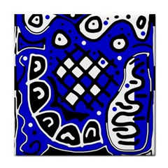 Blue high art abstraction Face Towel