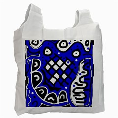Blue high art abstraction Recycle Bag (One Side)