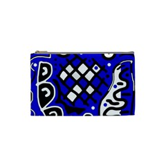Blue high art abstraction Cosmetic Bag (Small)