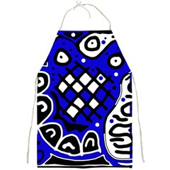 Blue high art abstraction Full Print Aprons