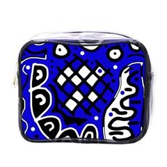 Blue high art abstraction Mini Toiletries Bags