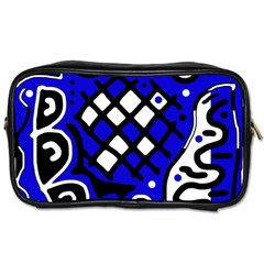 Blue high art abstraction Toiletries Bags