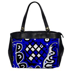 Blue high art abstraction Office Handbags