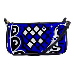 Blue high art abstraction Shoulder Clutch Bags