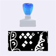 Blue high art abstraction Rubber Stamps (Medium)