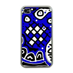 Blue high art abstraction Apple iPhone 4 Case (Clear)