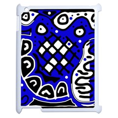 Blue high art abstraction Apple iPad 2 Case (White)