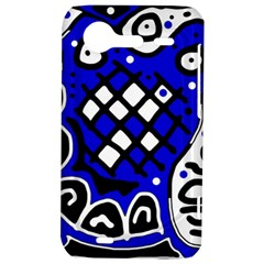 Blue high art abstraction HTC Incredible S Hardshell Case