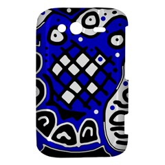 Blue high art abstraction HTC Wildfire S A510e Hardshell Case