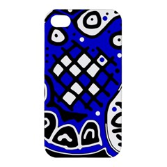 Blue high art abstraction Apple iPhone 4/4S Premium Hardshell Case