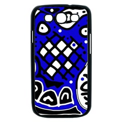 Blue high art abstraction Samsung Galaxy S III Case (Black)