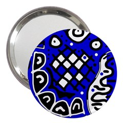Blue high art abstraction 3  Handbag Mirrors