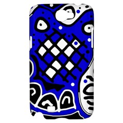 Blue high art abstraction Samsung Galaxy Note 2 Hardshell Case