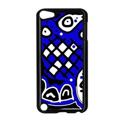Blue high art abstraction Apple iPod Touch 5 Case (Black)