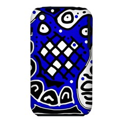 Blue high art abstraction Apple iPhone 3G/3GS Hardshell Case (PC+Silicone)