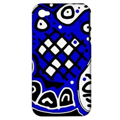 Blue high art abstraction Apple iPhone 4/4S Hardshell Case (PC+Silicone)