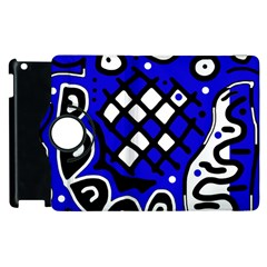 Blue high art abstraction Apple iPad 3/4 Flip 360 Case