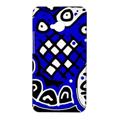 Blue high art abstraction HTC One M7 Hardshell Case