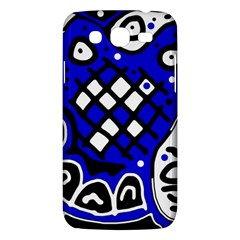 Blue high art abstraction Samsung Galaxy Mega 5.8 I9152 Hardshell Case