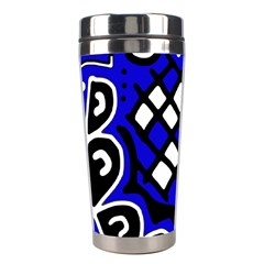 Blue high art abstraction Stainless Steel Travel Tumblers