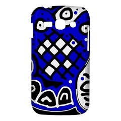 Blue high art abstraction Samsung Galaxy Ace 3 S7272 Hardshell Case