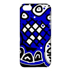 Blue high art abstraction Apple iPhone 5C Hardshell Case