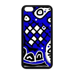 Blue high art abstraction Apple iPhone 5C Seamless Case (Black)
