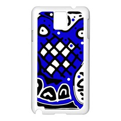 Blue high art abstraction Samsung Galaxy Note 3 N9005 Case (White)