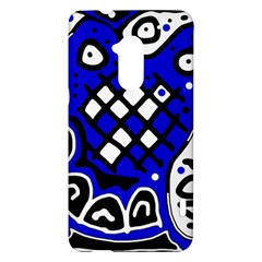 Blue high art abstraction HTC One Max (T6) Hardshell Case