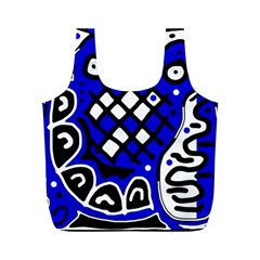 Blue high art abstraction Full Print Recycle Bags (M)