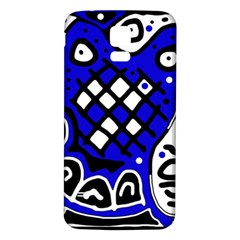 Blue high art abstraction Samsung Galaxy S5 Back Case (White)