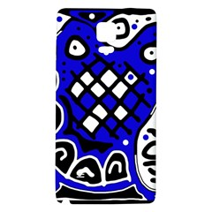 Blue high art abstraction Galaxy Note 4 Back Case