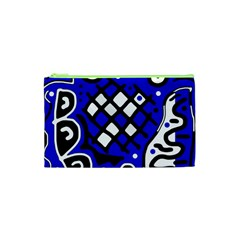 Blue high art abstraction Cosmetic Bag (XS)