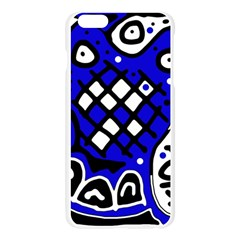 Blue high art abstraction Apple Seamless iPhone 6 Plus/6S Plus Case (Transparent)