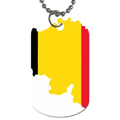 Belgium Flag Map Dog Tag (Two Sides)
