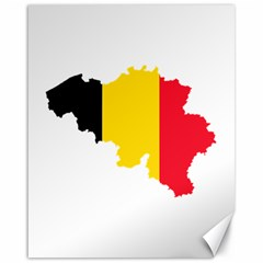 Belgium Flag Map Canvas 16  x 20