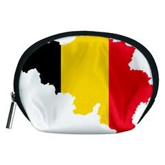 Belgium Flag Map Accessory Pouches (Medium)