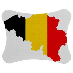 Belgium Flag Map Jigsaw Puzzle Photo Stand (bow)