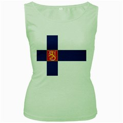 State Flag of Finland  Women s Green Tank Top