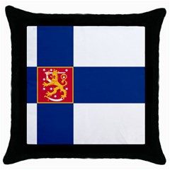 State Flag of Finland  Throw Pillow Case (Black)